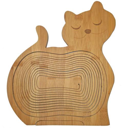 Katze Schale Klappkorb Faltkorb 30x30cm Korb Untersetzer Obstschale Brettchen