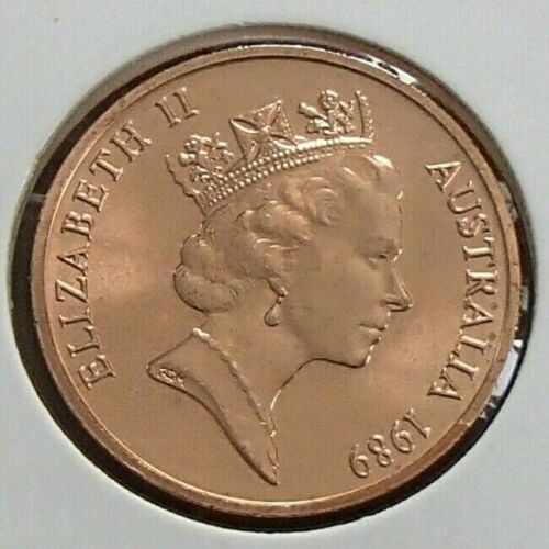 Choice Uncirculated from Mint Set 1989 Australia 2c Two Cent Copper Coin