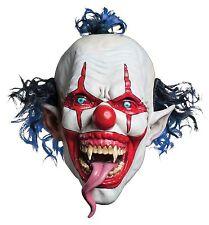 Evil Clown Latex Creepy Head Halloween Scary Mask Costume Horror Theater Prop