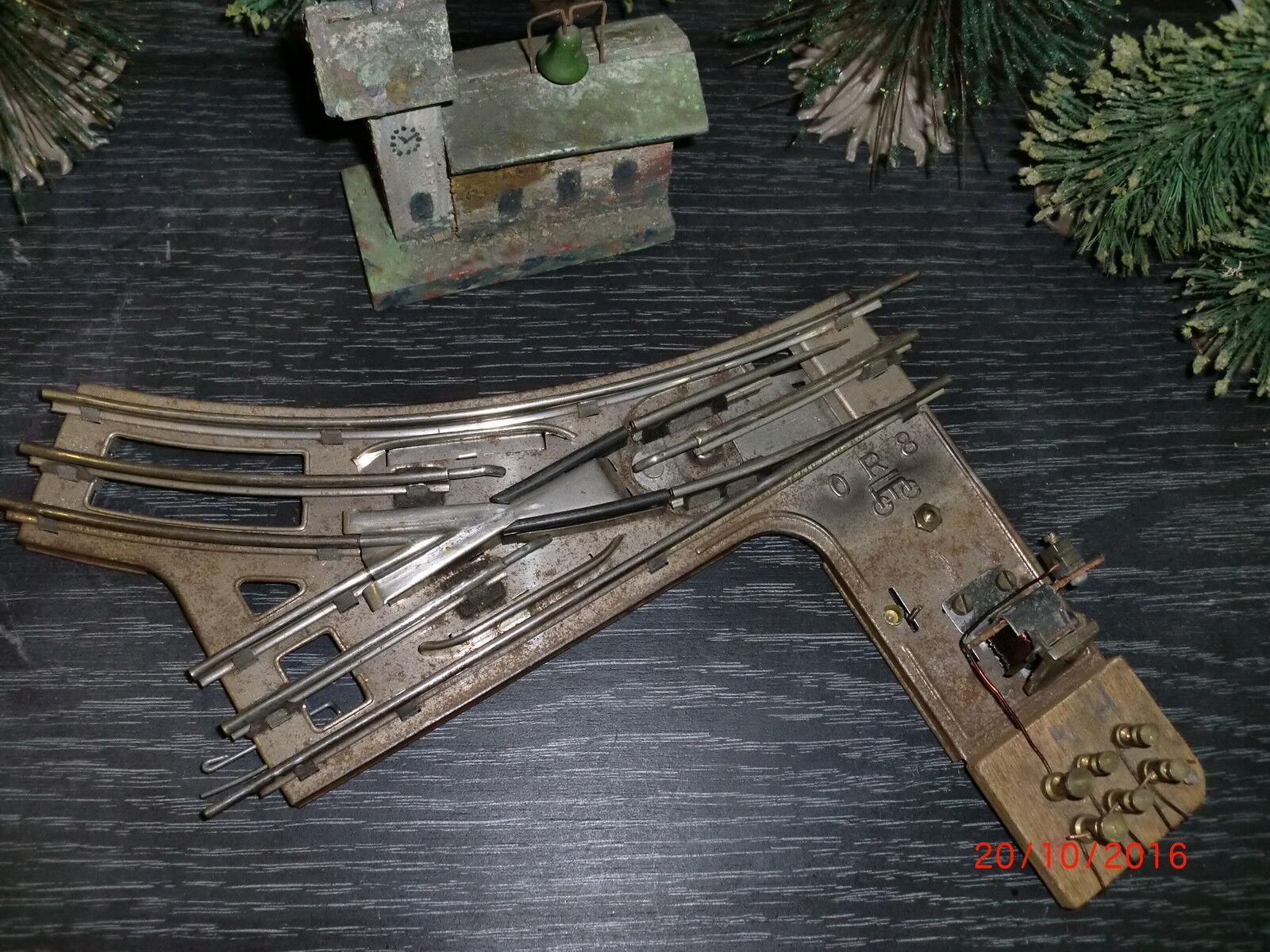 Märklin Spur 0   elektrische Weiche   0 R 8   sehr selten   siehe Bilder     119