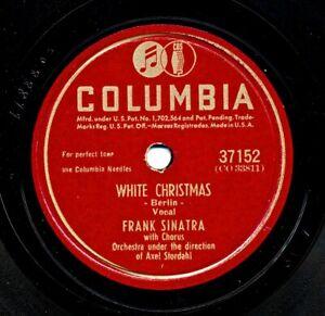 FRANK SINATRA on V/V+ 1946 Columbia 37152 - WHITE CHRISTMAS / Jingle Bells
