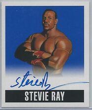 Stevie Ray 2014 Leaf Originals Wrestling Alternate Art Blue Autographs 04/10