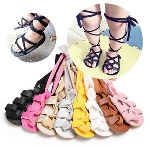 6757ac9fc26c Image is loading Baby-Girl-Gladiators-Sandals-Roman-Sandles-Toddler-Kids-