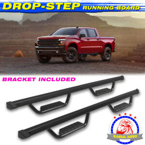 "For 05-19 Toyota Tacoma Access Cab 3/"" Black Heavyduty Side Step Nerf Bars Boards"