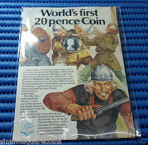 1982-Isle-of-Man-20-Pence-Sterling-Silver-Proof-Coin-World-First-20-Pence-Coin