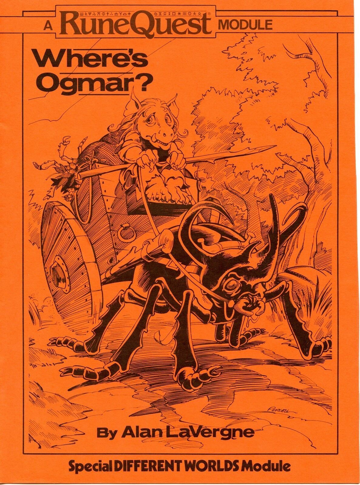 RUNEQUEST WHERES OGMAR SPECIAL DIFFERENT WORLDS MODULE NM  TSR