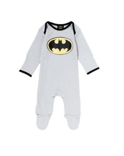 Superman Batman Manga Larga mameluco footed//Pijama PJ//Cochecito Traje//3-24 M talla 00//0//1//2