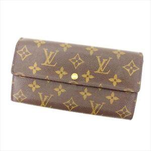 Louis-Vuitton-Wallet-Purse-Long-Wallet-Monogram-Brown-Woman-Authentic-Used-Y2590