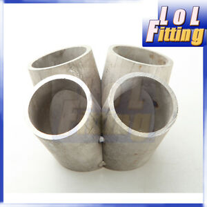 Car Parts 1 1/4 NB Sch10 90 Degree Bend Elbow 304 Stainless Steel Exhaust Manifold 3mm