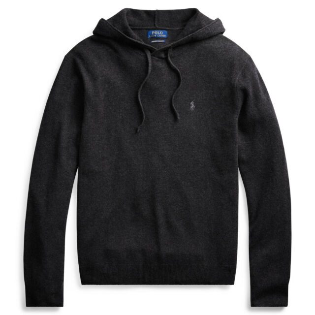 $288 NWT POLO RALPH LAUREN Men's Washable 100% Cashmere Hoodie Hooded Sweater M