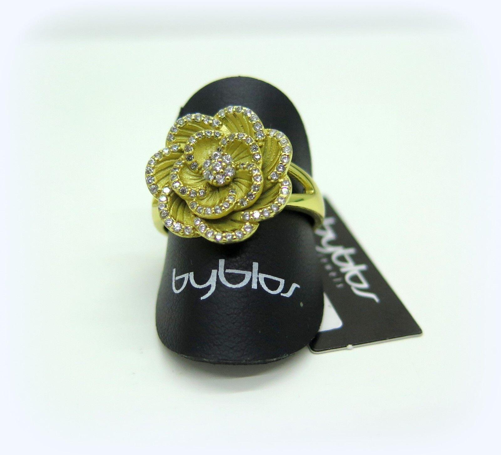 Anello donna Byblos argentoo 925 rosa collection placcato placcato placcato oro giallo mis 14 16 20 6eef36