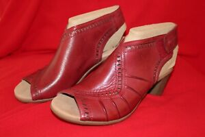 Earth Leather Peep Toe Sandals- Steph