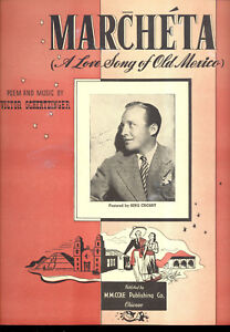 Details about BING CROSBY Sheet Music