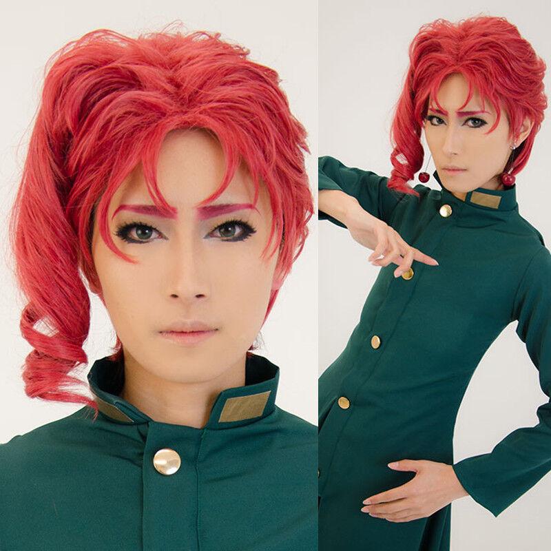 Jojo S Bizarre Adventure Noriaki Kakyoin Cosplay Wig Anime Party Red Short Hair Ebay