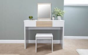 Image Is Loading Dressing Table Set With Stool Fold Down Mirror