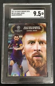 2017-18 Topps Chrome UEFA Champions Lionel Messi Award Winners SGC 9.5 🔥