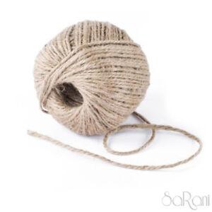 Kordel-Dunkelbraun-Naturlich-Jute-Seil-Hanf-Verpackung-Geschenk-80m-Fai-Tee