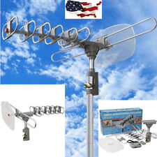 Outdoor 360 Rotation Digital Amplified Antenna TV DTV VHF HDTV UHF HD FM Rotor Y