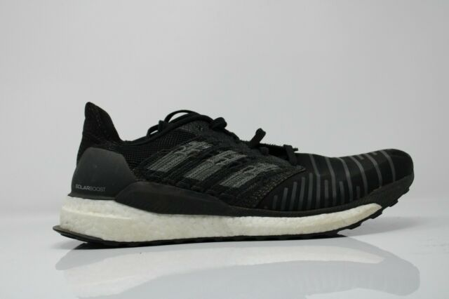 Adidas Mens Solar Boost CQ3171 Black Running Shoes Lace Up Low Top Size 10