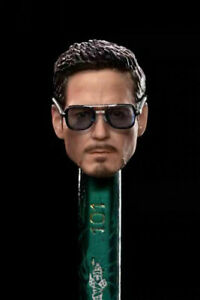 1/12 Scale Tony Stark Head Sculpt Carved Fit 6inch Male Action Figure Body Toys