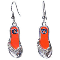 Auburn University Tigers Earrings Flip Flop With Logo With Tags
