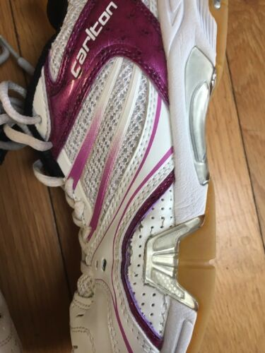 Leather Ladies Size Trainers Purple White Carlton 6 t868a0