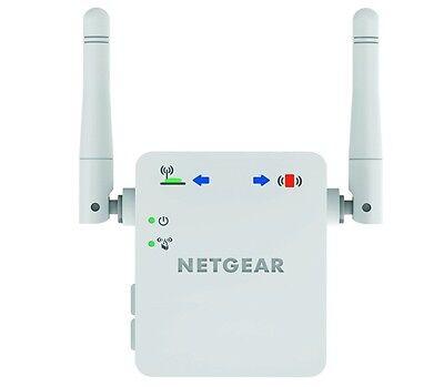 NETGEAR Broadband WiFi Range Extender Booster White Internet Home NEW FREE P&P
