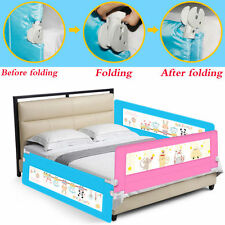 180cm Folding Child Toddler Bed Rail Safety Protection Guard Blue Space Saving A