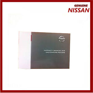 genuine nissan blank service book maintenance guide for all models