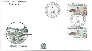 TAAF-ENVELOPPE-1er-JOUR-N-97-et-98-CANARD-d-039-EATON