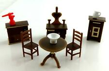 Melody Jane Dolls House Miniature 1:48 Plastic Kitchen Furniture Set