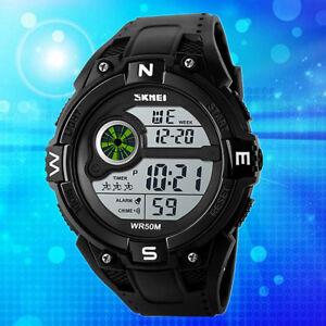 Herren-Sport-Uhr-Armee-Armbanduhr-Wasserdicht-Digital-LED-Uhren-Mens-Watch-Pro