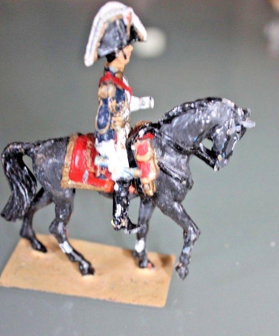 Personaggio soldato piombo MDM Primo Impero Général anni del cavallo 50