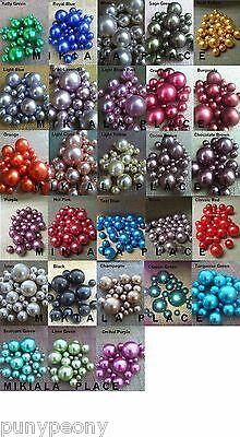 80Pc Vase Filler Pearls Beads Wedding Decorative Centerpieces Plastic Balls