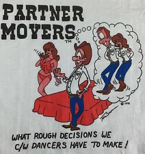 True Vintage 1991 Funny Partner Movers Country Western Swing Dancing T-Shirt L