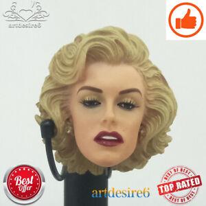 """1//6 Scale Gentlemen Prefer Marilyn Monroe Headsculpt For 12/"""" Female Body Doll"""