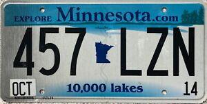 GENUINE-Minnesota-com-10000-Lakes-USA-License-Licence-Number-Plate-Tag-457-LZN
