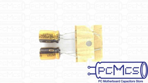 5 Pcs Nichicon 35V 220UF VR for Audio Equipment HI-FI Made in Japan Capacitor