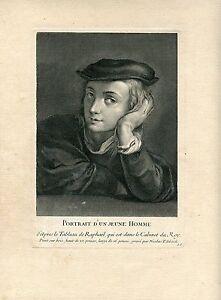 Portrait-D-039-Un-Jeune-Homme-Gravierkunst-bei-Nicolas-Edelinck