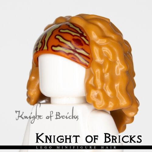 LEGO Minifigure Hair MEDIUM DARK FLESH 38115pb01 Female Bushy and Mid-Length