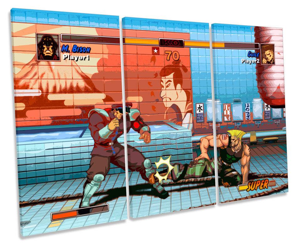 Streetfighter Retro juegos agudos lienzo arte de pared enmarcada de cuadro cuadro de de impresión 48a023