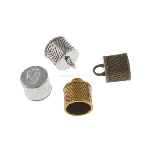 20Pc Collar Cordón de Cuero Pulsera De Artesanía final del grano Tapa Tapón Fit 10mm grano Hazlo tú mismo