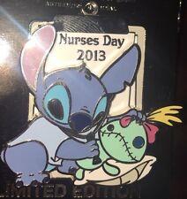 Disney Pin Le Nurses Day Stitch Nurse Scrump 2013 RN Le 1500 NWT NEW ON CARD