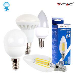 Lampadine led e14 v tac da 2w a 6w lampada candela mini for Lampadine a led e14