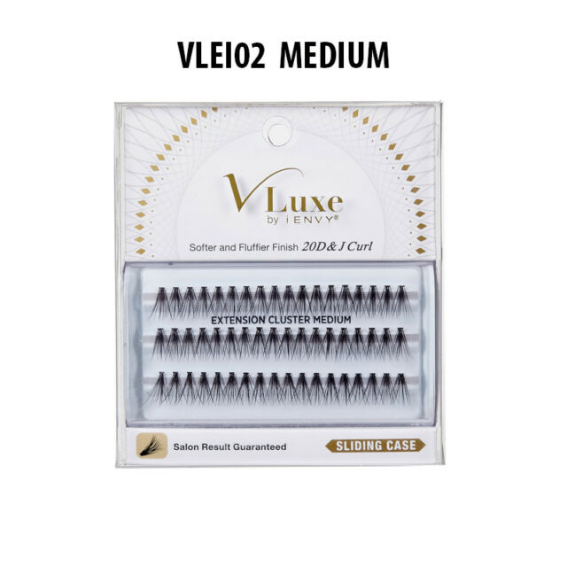 6b079acfc68 Buy Kiss V Luxe Extension Cluster Medium Eyelashes 1 EA online | eBay