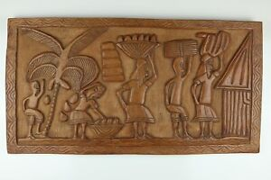 Hand-Carved-Large-Wooden-Folk-Indigenous-Rectangle-Wall-Hanging-29-5-034-x-15-5
