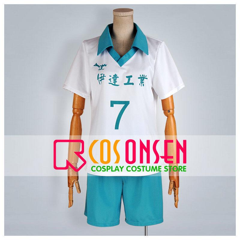 Cosonsen Haikyuu! Johzenji High school volleyball uniform Cosplay Costume NEW