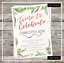 Personalised Birthday Invitations Party Lights Invites 40th 50th 60th 30th 21st
