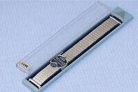 Long Length Jb Champion Vintage Gold Watch Band Curved Ends Adjust 16mm-20.7mm