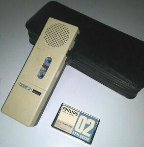 Compur Werk Dict Munchen 4480 Dictaphone Micro Cassette Recorder case AS-IS work